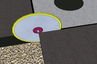 Illustration of Concrete Saw Over-cuts on each corner